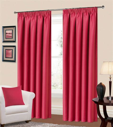 blackout bedroom curtains uk plain fuschia pink colour thermal blackout readymade