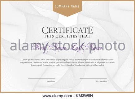 zertifikat oder gutschein vorlage mit vintage grenze
