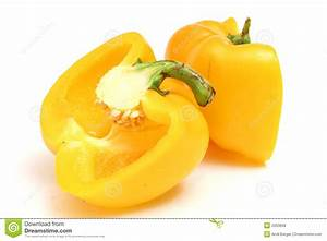 Cut Yellow Bell Pepper Level Royalty Free Stock Photos ...