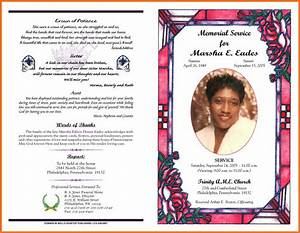 sample funeral program artresume sample With obituary pamphlet template