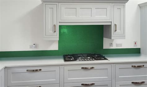 green kitchen splashbacks glass metallic painted kitchen glass splashbacks pearl 1436