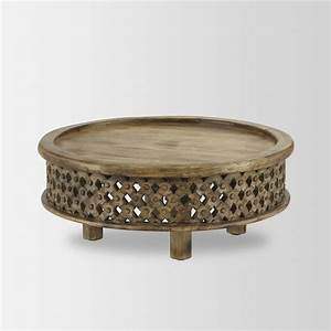 carved wood coffee table eclectic coffee tables by With carved wood round coffee table