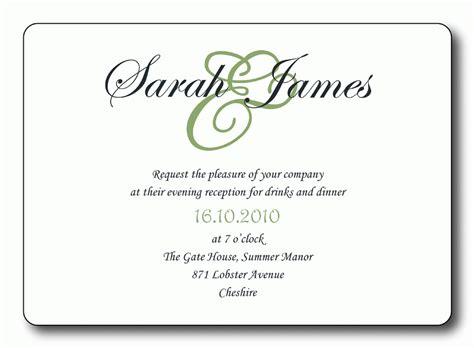 wedding reception invitation templates