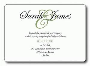 free wedding reception invitation templates With free wedding invitation wording templates uk