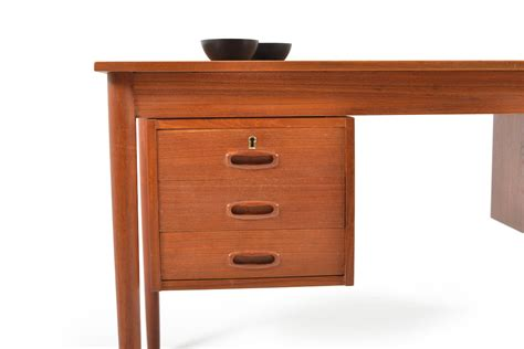 mid century desk with drawers mid century danish teak desk with drawers for sale at pamono