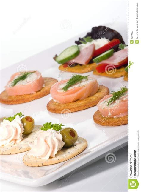 fresh canapes tray of fresh canapes royalty free stock photography