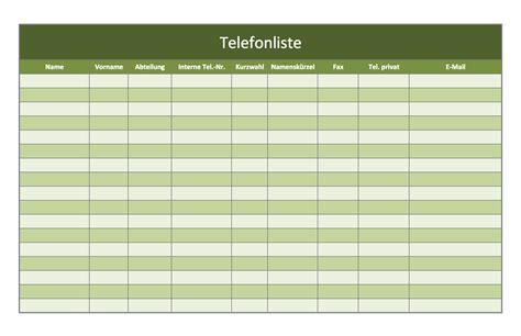 telefonverzeichnis als excel vorlagen kostenlos excel