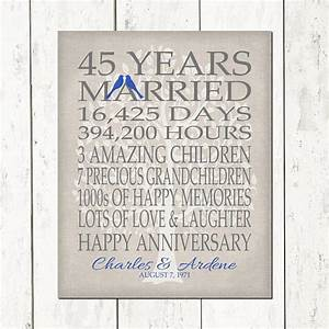 45th wedding anniversary gift for parents sapphire anniversary With 45th wedding anniversary gift ideas