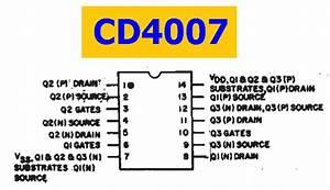 Cd4007 Datasheet - Cmos Pair Plus Inverter