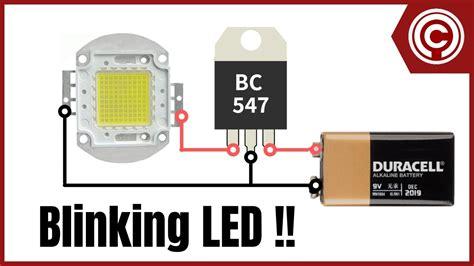 Led Blinking Circuit Youtube