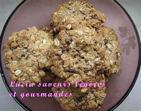 avoine cuisine cookies light aux flocons d 39 avoine et au chocolat