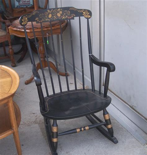 Nichols And Rocking Chair Value by Maple Handpainted Nichols Rocker Rocking Chair Ebay