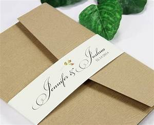 Invitation belly bands paper bands to wrap invites for Wedding invitation paper bands