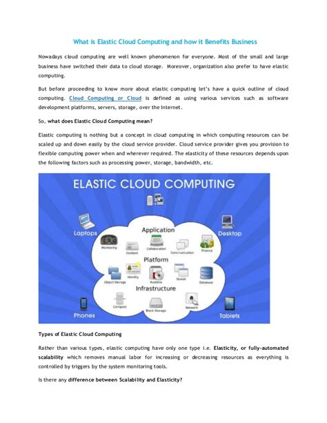 What Is Elastic Cloud Computing And How It Benefits Business
