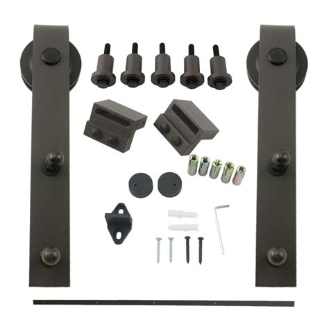 barn door cabinet hardware 6 6ft classic sliding barn cabinet door hardware kit steel