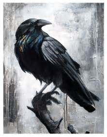 Abstract Raven Painting