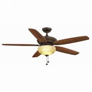 Hampton Bay Langston 60 In  Indoor Ceiling Fan With Light