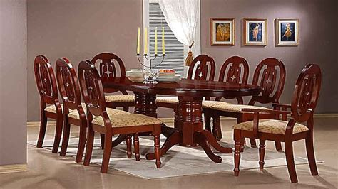 mahogany dining table   chairs   carvers homegenies