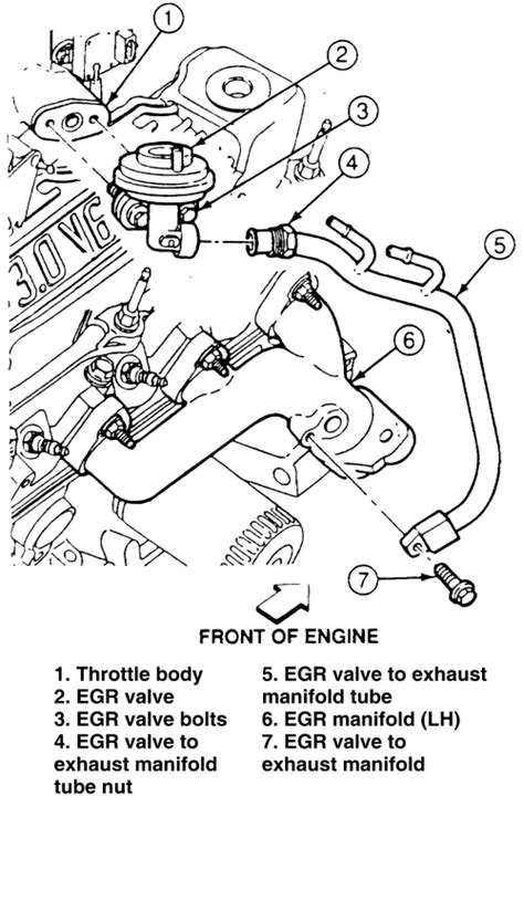 Where is egr valve located on 1991 ford ranger 4.0l - Fixya