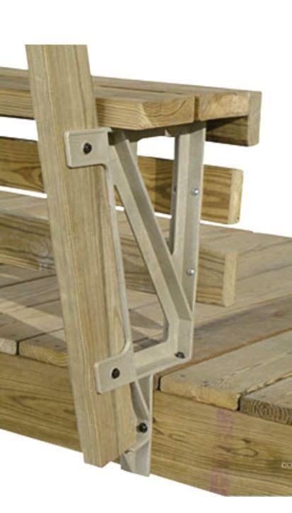 rear view  deck bench bracket house ideas diy deck
