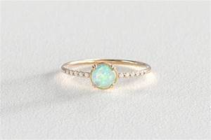 16 opal engagement rings youll fall in love with brit co With opal and diamond wedding rings