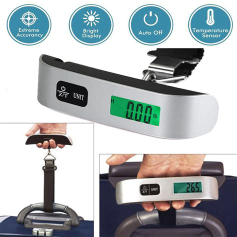 50kg 10g portable travel lcd digital hanging luggage scale