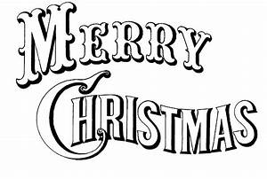Merry Christmas Clipart Black And White | Clipart Panda ...