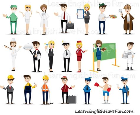 Learn English Occupations Vocabulary