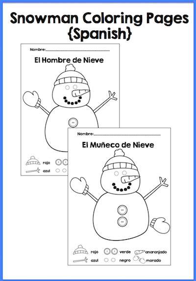 spanish winter activities  tpt spanish playground