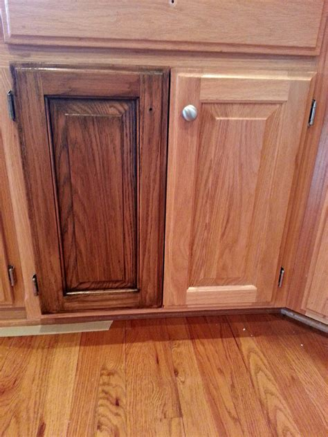how to restain oak kitchen cabinets cabinet restaining the magic brush inc 8892