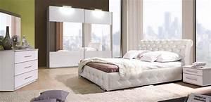Chambre à Coucher Adulte : lit chester chambre a coucher blanche ~ Teatrodelosmanantiales.com Idées de Décoration