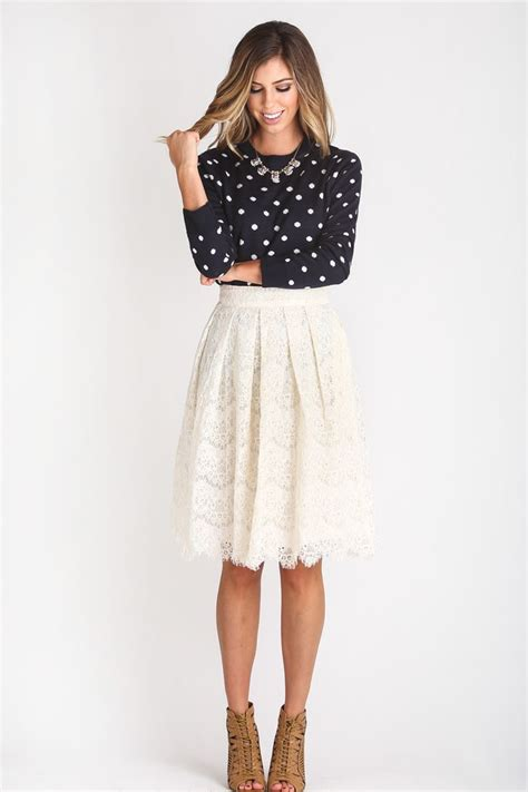 Cute Lace Midi Skirt Morning Lavender White Lace Midi Skirt Cute Date Night Outfit Ideas