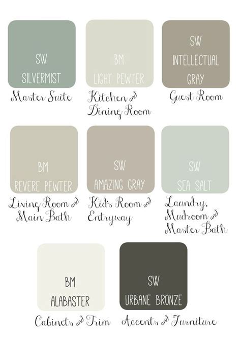 joanna gaines paint pallet interior design