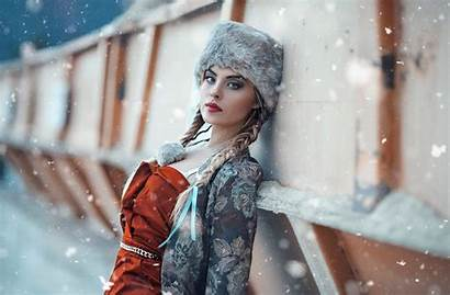 Snow Winter Hat Lady Spring Wallpapers Px