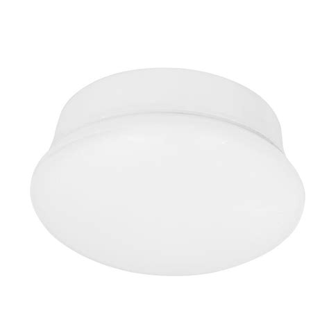 commercial electric 7 in bright cool white led flushmount