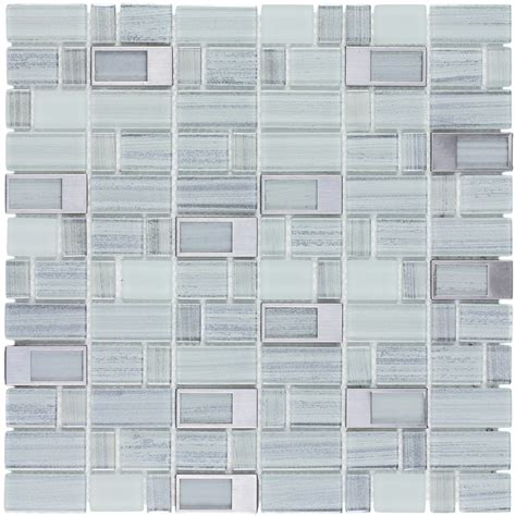 shop elida ceramica silver windows staggered mosaic glass