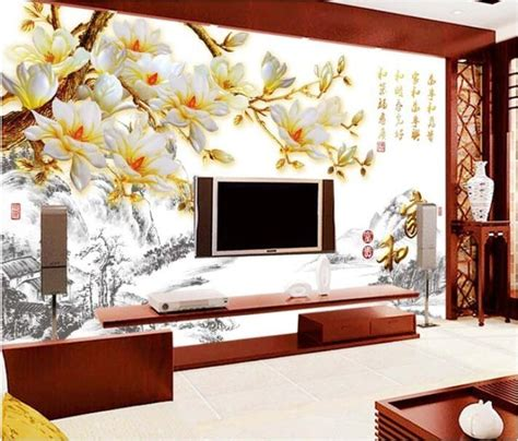 3d wallpaper custom mural non woven wall sticker Magnolia