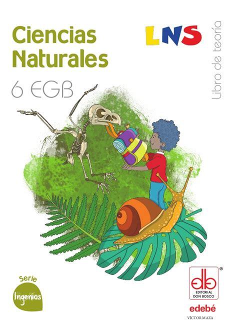 texto de ciencias naturales de sexto grado 2016