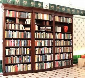 Bücherregal 2 Teilig : b cherregal massiv holz erle nussbaumton 230x290x35cm ebay ~ Indierocktalk.com Haus und Dekorationen