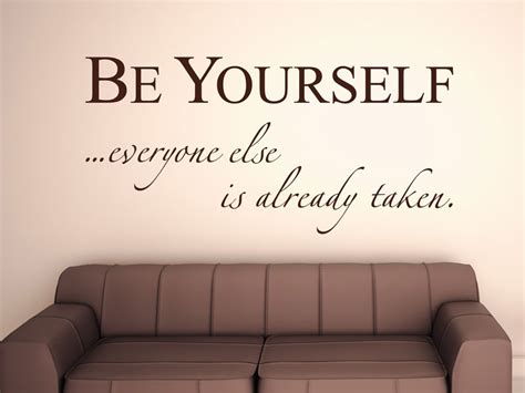 be yourself wandtattoo be yourself wandsticker