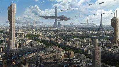 Futuristic Fiction Cities Science Fantasy Paris Wallpapers