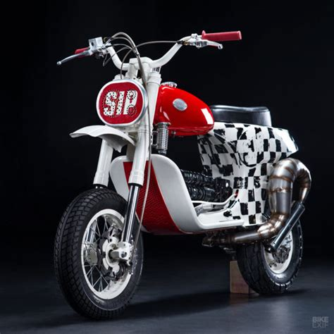 butchered an custom vespa scooter from russia bike exif