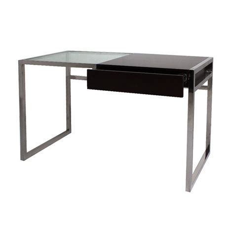 bureau bois verre mobilier contemporain bureau inter matière en inox et