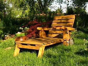 Mobilier Jardin Bois : mobilier de jardin en palette de bois ~ Premium-room.com Idées de Décoration