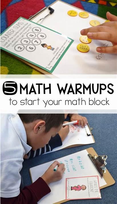 Math Ups Warm Block Start Grade 1st