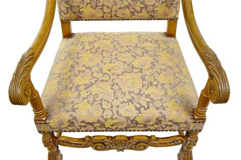 19th Century Carved Baroque Throne Armchairs For Sale At