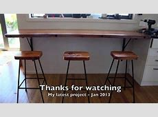 Rimu breakfast bar and stools project Jan 2014 YouTube