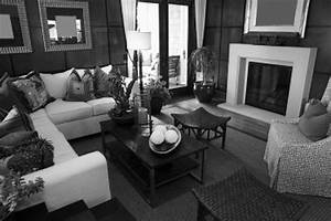 Living room ideas grey black and white living room for Home decor for gray furniture