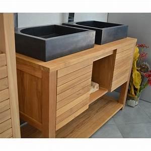 meuble sous vasque en teck 120 cm mrc002 120 With meuble sous vasque 120