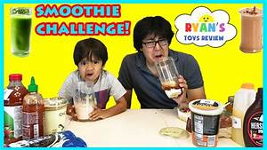 SMOOTHIE CHALLENGE! Super Gross Smoothies for Kids with ...